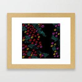 Yerushalyim and Roses Framed Art Print