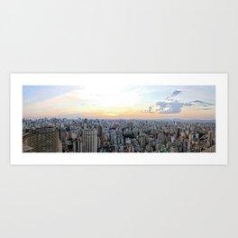 Sao Paulo Aerial Art Print