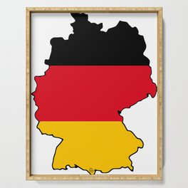 Germany Map with German Flag Serving Tray