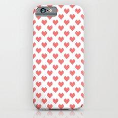 Pixel Hearts iPhone 6s Slim Case