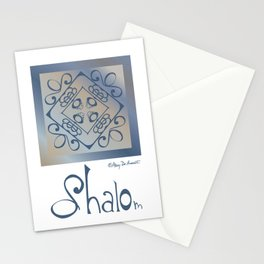 Shalom - Blue Beige Stationery Cards