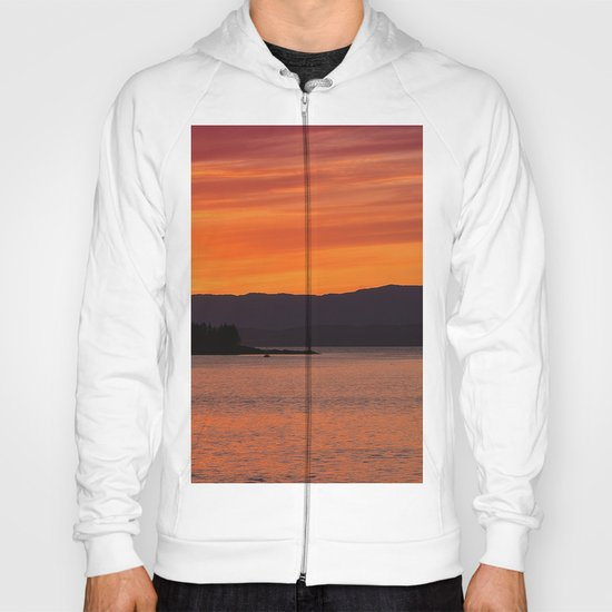 Sundown over Oban Bay Hoody