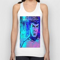 spock Tank Tops featuring SPOCK by Saundra Myles