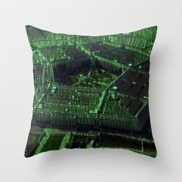Usa Pentagon Artistic Illustration Data Code Style Throw Pillow