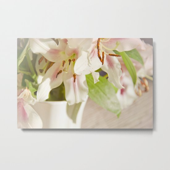 Lilies of the Field Metal Print