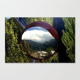 A town inside a Bubble Canvas Print