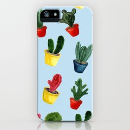 Cacti flower background iPhone Case