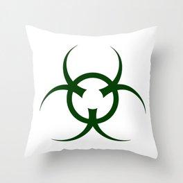 Bio Hazard Symbol Throw Pillow