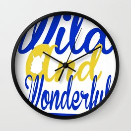 Wild and Wonderful WV Wall Clock