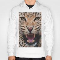 leopard Hoodies featuring Leopard   by Brian Raggatt