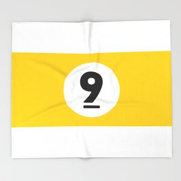 9 ball yellow Throw Blanket