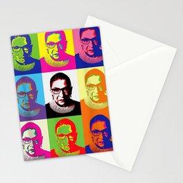 Notorious Ruth Bader Ginsburg - RBG (color block) T-Shirt Stationery Cards