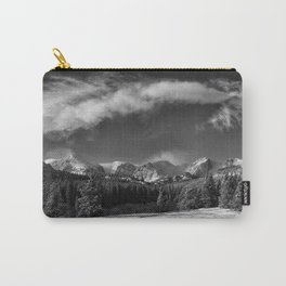 Rocky Mountan Park in Black and White Carry-All Pouch
