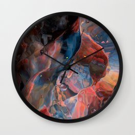 Space has curves Wall Clock