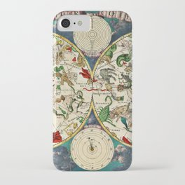 De Wit's Celestial Hemispheres, North and South, 1670 iPhone Case