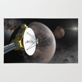 New Horizons flyby Pluto into Kuiper belt Rug