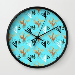 I Love You ILY - Turquoise Wall Clock