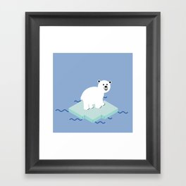 Snow Buddy Framed Art Print