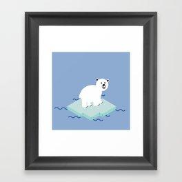 Snow Buddy Framed Art Print