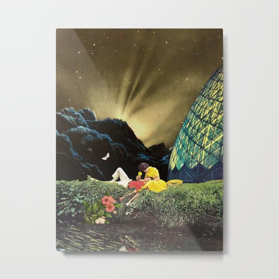 Postcard from New Iceland Metal Print