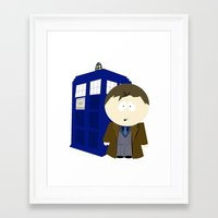 dr who Framed Art Prints featuring Dr who? by Karen Yuill