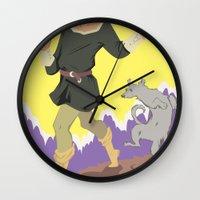 tarot Wall Clocks featuring Tarot Card by eileenoberlin