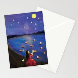 Cute Girl's Dream And Wish Stationery Cards