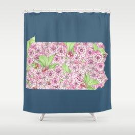 Pennsylvania in Flowers Shower Curtain