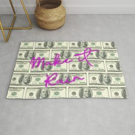DOLLARS - MAKE IT RAIN NEON Rug