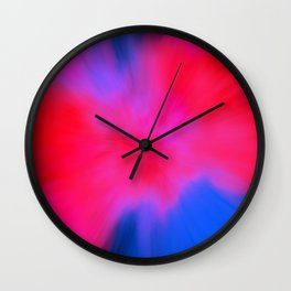 shattered red Wall Clock