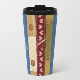 Scarves Knitted Buttoned Travel Mug