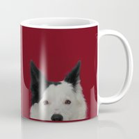 border collie Mugs featuring border collie by Moira Church