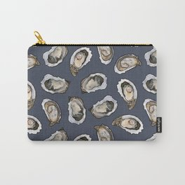 Oysters by the Dozen in Blue Carry-All Pouch