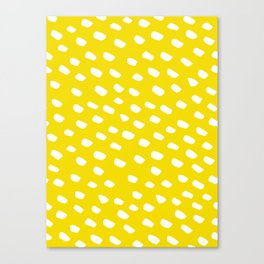 Brush Dot Pattern Yellow Canvas Print