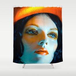 SALLY PORCELAIN #1 Shower Curtain