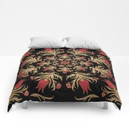 Turkish tulip - Ottoman tile 3 Comforters
