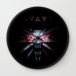 The White Wolf (Blood and Magic) Wall Clock