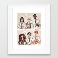 potter Framed Art Prints featuring Potter - Malfoy by CaptBexx