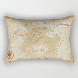Map of Neverland Rectangular Pillow