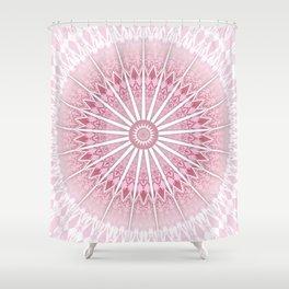 Dusky Pink Mandala Shower Curtain