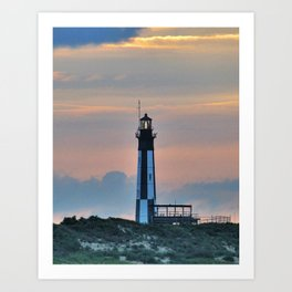 Cape Henry Lighthouse Virginia Beach Art Print