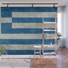 Flag of Greece, vintage retro style Wall Mural