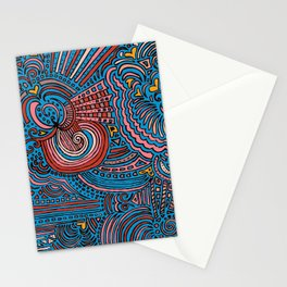 Drawing Meditation - Blue Stationery Cards
