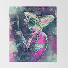 chameleon #chameleon #animals Throw Blanket