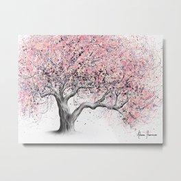 Taffy Blossom Tree Metal Print