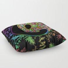 Yin Yang Bamboo Psychedelic Floor Pillow