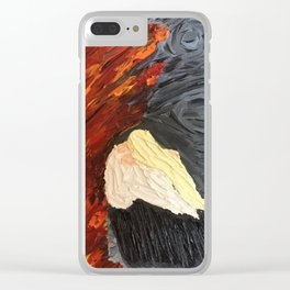 Painted Wrath Art (7 Deadly Sins and 7 Contrary Virtues) Clear iPhone Case