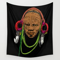 africa Wall Tapestries featuring AFRICA by ZE-DESIGN