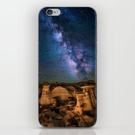 Milky Way Night Sky Over Mountains iPhone Skin