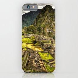 Machu Picchu Hi-Res HDR landscape Peru iPhone Case